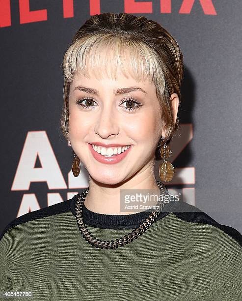 Jazmin Grace Grimaldi attends 'Aziz Ansari Live at Madison Square Garden' New York Screening at Crosby Street Hotel on March 6 2015 in New York City