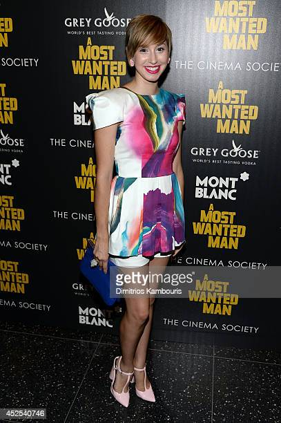 Jazmin Grace Grimaldi attends Lionsgate and Roadside Attraction's premiere of 'A Most Wanted Man' hosted by The Cinema Society and Montblanc at the...