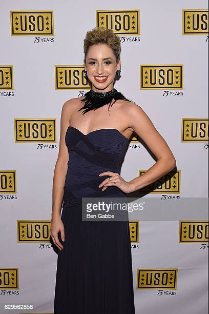 Jazmin Grace Grimaldi attends the 75th Anniversary USO Armed Forces Gala at Marriott Marquis Hotel on December 13 2016 in New York City