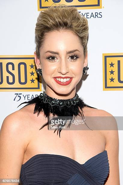 Jazmin Grace Grimaldi attends the 75th Anniversary USO Armed Forces Gala at the Marriott Marquis Hotel on December 13 2016 in New York City