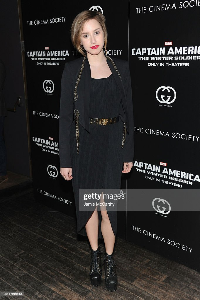 Jazmin Grace Grimaldi attends The Cinema Society & Gucci Guilty screening of Marvel's 'Captain America: The Winter Soldier' at Tribeca Grand Hotel on March 31, 2014 in New York City.