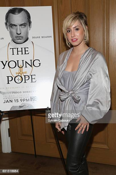 Jazmin Grace Grimaldi attends The Cinema Society Hosts a Screening of HBO's 'The Young Pope' on January 11 2017 in New York City