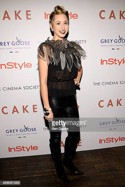 Jazmin Grace Grimaldi attends The Cinema Society InStyle Host A Special Screening Of 'Cake'' at Tribeca Grand Hotel on November 16 2014 in New York...