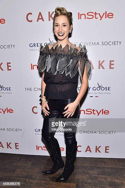 Jazmin Grace Grimaldi attends The Cinema Society InStyle screening of 'Cake' at Tribeca Grand Hotel on November 16 2014 in New York City