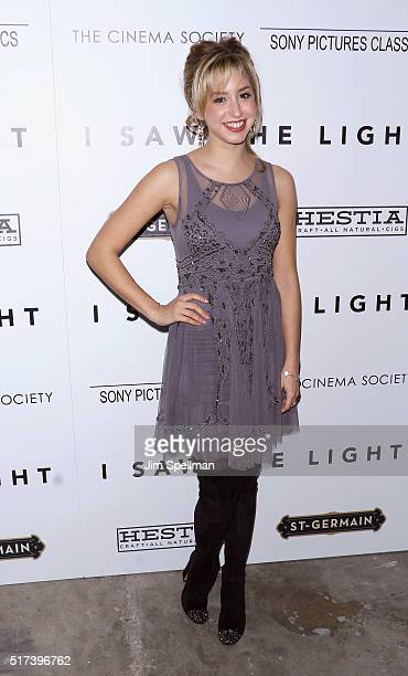 Jazmin Grace Grimaldi attends The Cinema Society with Hestia StGermain host a screening of Sony Pictures Classics' 'I Saw The Light' at Metrograph on...