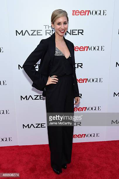 Jazmin Grace Grimaldi attends the Twentieth Century Fox and Teen Vogue screening of 'The Maze Runner' at SVA Theater on September 15 2014 in New York...