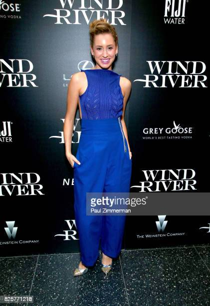 Jazmin Grace Grimaldi attends The Weinstein Company With FIJI Grey Goose Lexus And NetJets Host A Screening Of 'Wind River' Arrivals at The Museum of...