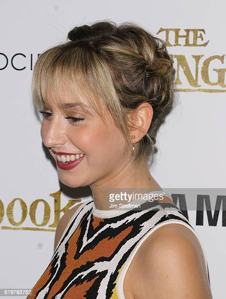 Jazmin Grace Grimaldi hair detail attends the screening of 'The Jungle Book' hosted by Disney with The Cinema Society and Samsung at AMC Empire 25...