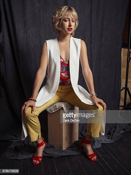 Jazmin Grace Grimaldi poses for a portrait during an after party hosted by Wilhelmina and The WolfPack in Association with NY Cult to close out New...