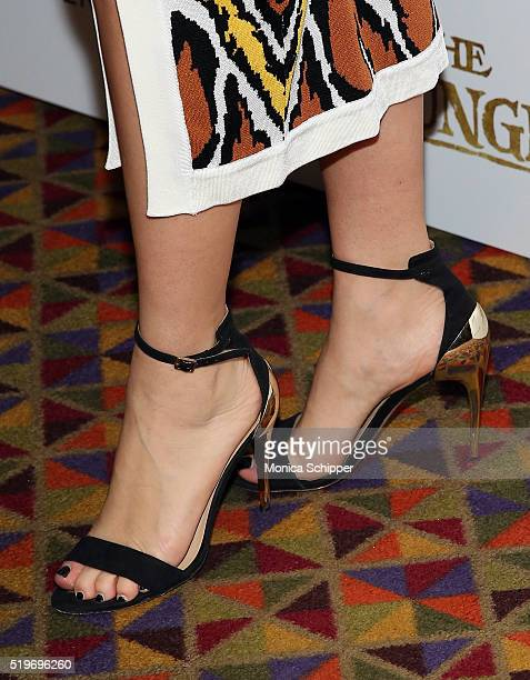 Jazmin Grace Grimaldi shoe detail attends Disney With The Cinema Society Samsung Host A Screening Of 'The Jungle Book' at AMC Empire 25 theater on...