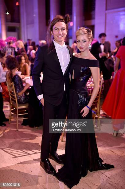 Jazmin Grimaldi and Ian Mellencamp attends the 2016 Angel Ball hosted by Gabrielle's Angel Foundation For Cancer Research on November 21 2016 in New...