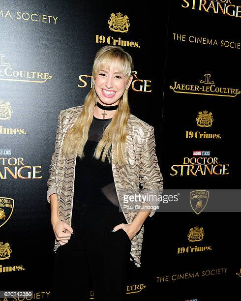 Jazmin Grimaldi attends the Lamborghini with The Cinema Society JaegerLeCoultre 19 Crimes Wines Host a Screening of Marvel Studios' 'Doctor Strange'...