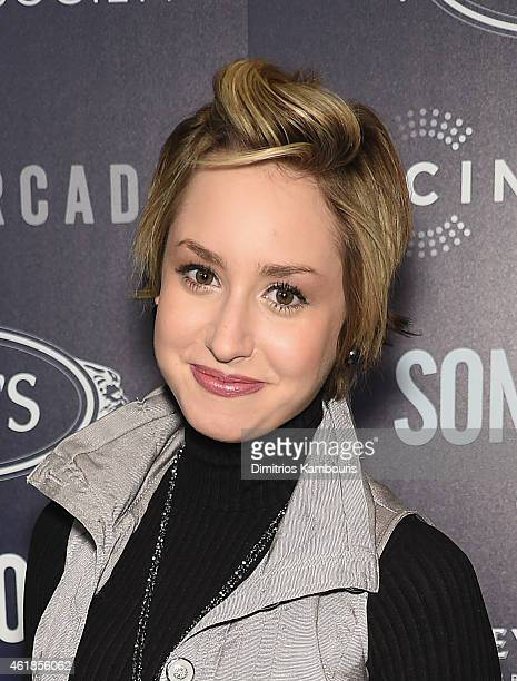 Jazmin Grimaldi attends the premiere of the Film Arcade Cinedigm's 'Song One' hosted by the Cinema Society Tod's at Landmark's Sunshine Cinema on...