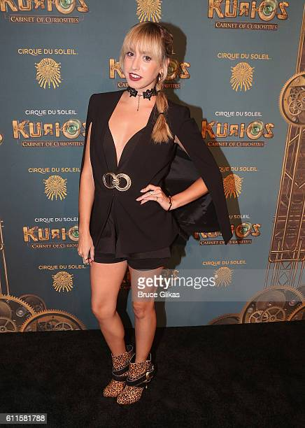 Jazmin Grimaldi of Monaco poses at The Opening Night of 'Cirque du Soleil Kurios Cabinet Of Curiosities' at Randall's Island Park on September 29...