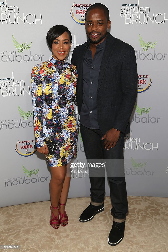 Jazmyn Simon (L) and actor <a gi-track='captionPersonalityLinkClicked' href=/galleries/search?phrase=Dule+Hill&family=editorial&specificpeople=213248 ng-click='$event.stopPropagation()'>Dule Hill</a> attend the Garden Brunch prior to the 102nd White House Correspondents' Association Dinner at the Beall-Washington House on April 30, 2016 in Washington, DC.