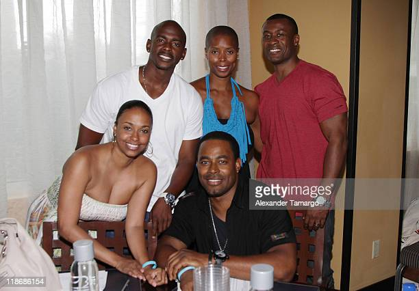 Jazsmin Lewis Lamman Rucker Keith Robinson Sidra Smith and Sean Blakemore attend the gmc TV Screenplay Competition Table Read Rehearsal at ABFF at...
