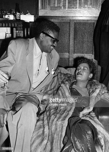 Jazz and blues singer Billie Holiday aka 'Lady Day' resting during a night out Original Publication Picture Post 7380 Billie Holiday unpub