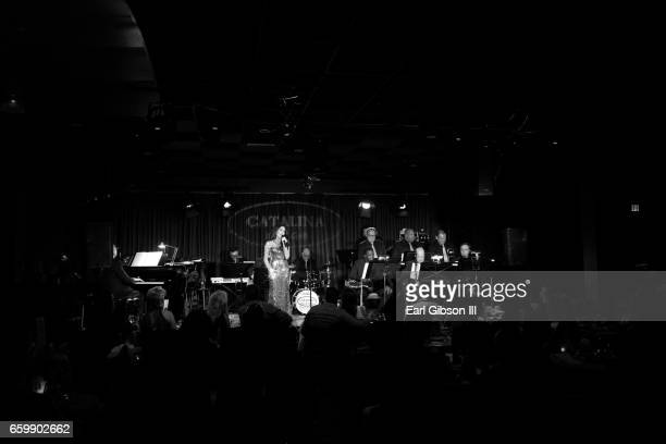 Jazz Artist/Singer Deborah Silver performs at Catalina Jazz Club Bar Grill on March 28 2017 in Hollywood California