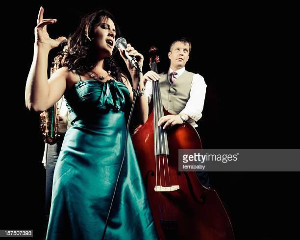 Jazz-Band auf der Bühne