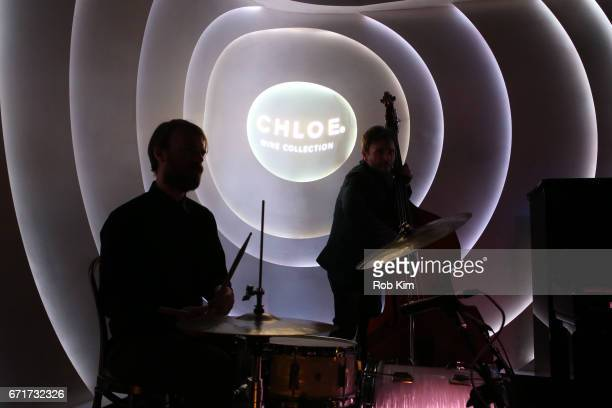 A jazz band performs at the 2017 Tribeca Film Festival afterparty for 'Literally Right Before Aaron' sponsored by Chloe Wine Collection and Rizk...