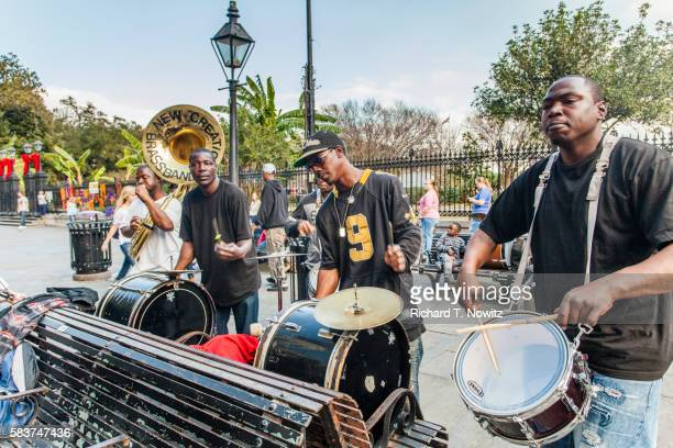 Jazz Band performs in Jackson Square