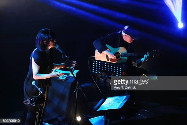 Jazz duo Korean singer Youn Sun Nah performs with Swedish guitarist Ulf Wakenius as part of KMusic 2016 concert programme at the Union Chapel on...