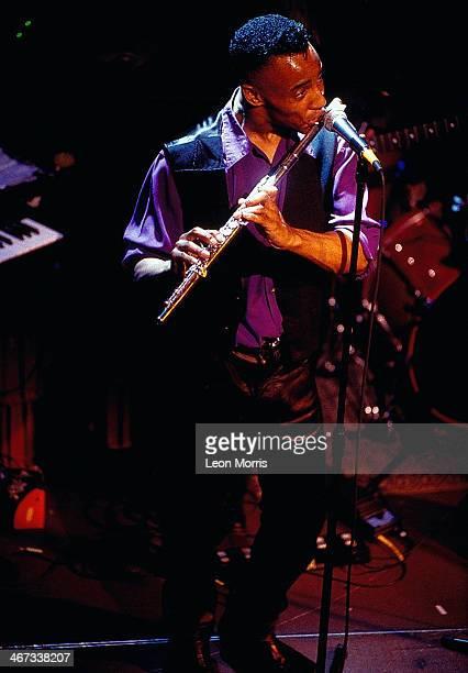 Jazz flautist Phillip Bent on stage circa 1990