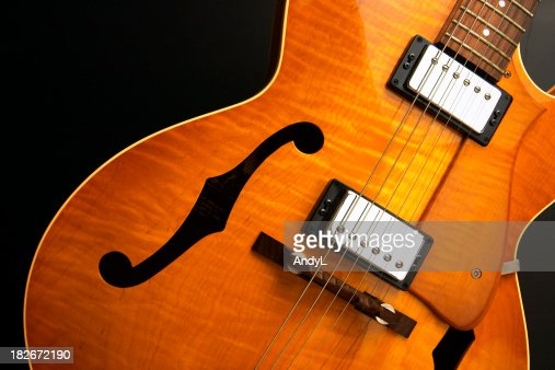Jazz Guitar on Black