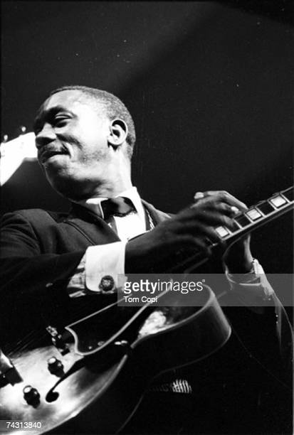 Jazz guitarist Wes Montgomery performs onstage in circa 1967