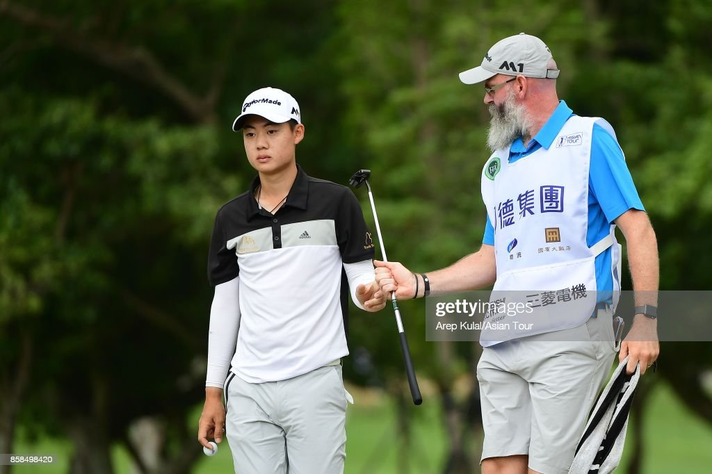 Jazz Janewattananond of Thailand during round three of the Yeangder Tournament Players Championship at Linkou lnternational Golf and Country Club on October 7, 2017 in Taipei, Taiwan.