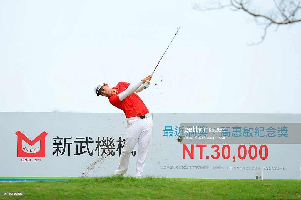 Jazz Janewattananond of Thailand pictured during the round 2 of the Yeangder Tournament Players Championship 2016 at Linkou International Golf Club on July 1, 2016 in Taipei, Taiwan.