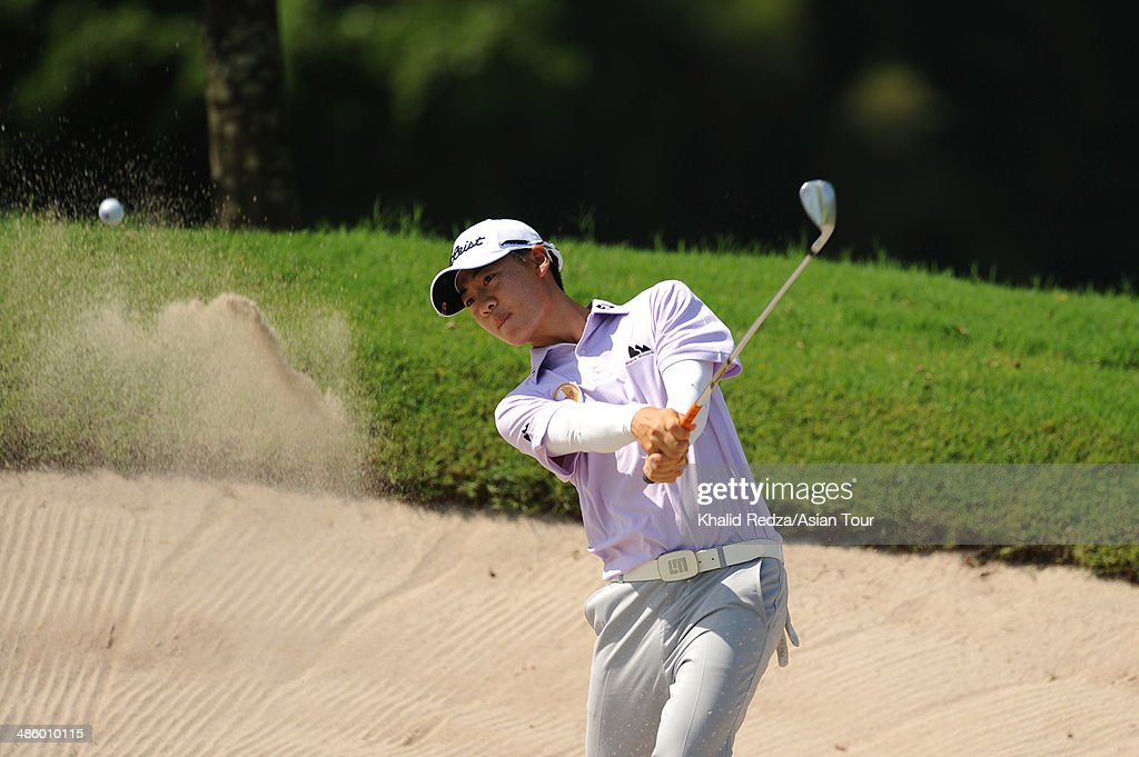 Jazz Janewattananond of Thailand plays a shot during practice ahead of the CIMB Niaga Indonesian Masters at Royale Jakarta Golf Club on April 22, 2014 in Jakarta, Indonesia.