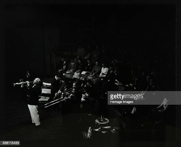 Jazz legend Sidney Bechet playing the soprano saxophone at Colston Hall Bristol 1956 Artist Denis Williams
