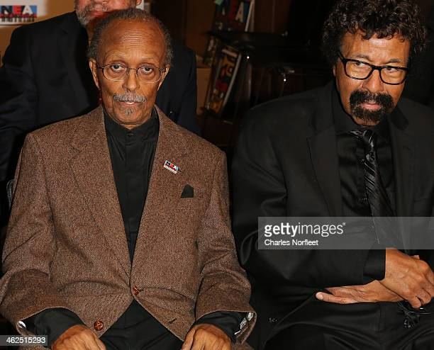 Jazz Masters Jimmy Heath and David Baker attend the 2014 NEA Jazz Masters Concert and Awards Ceremony at Nesuhi Ertegun Jazz Hall of Fame At Jazz at...