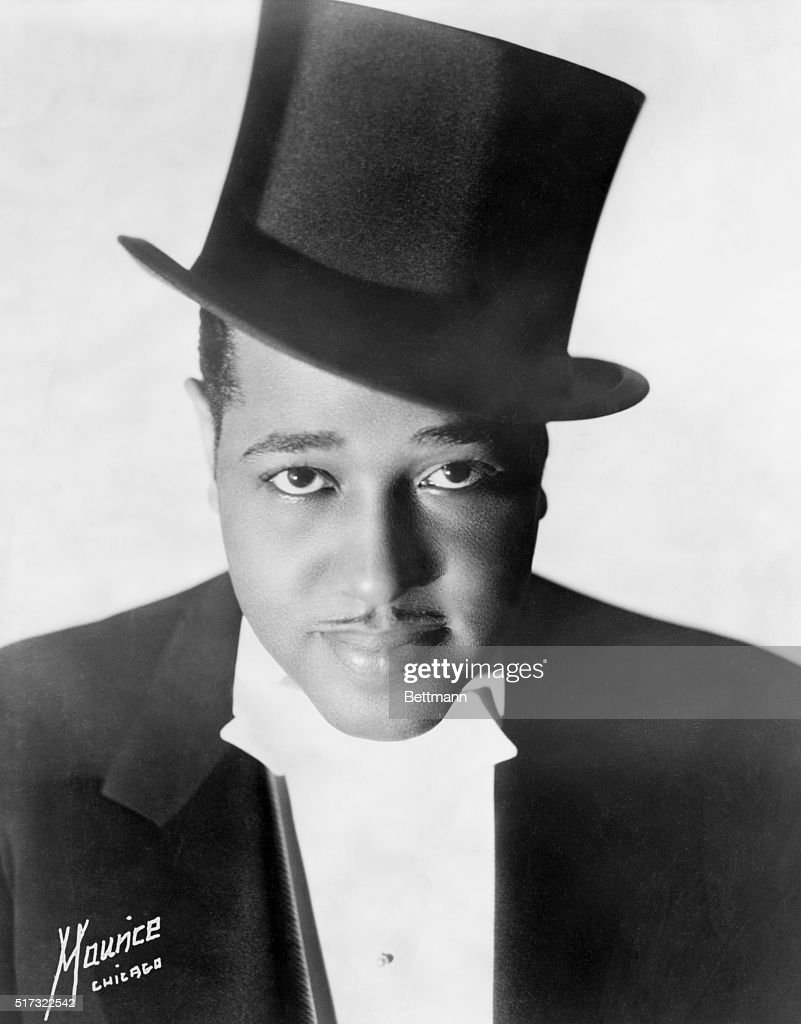 Jazz musician and composer Duke Ellington poses for a studio portrait before his first European tour.