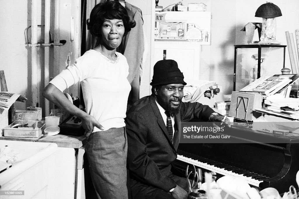 Jazz musician and composer Thelonious Monk and his wife Nellie Monk pose for a portrait at home in November 1963 in New York City New York
