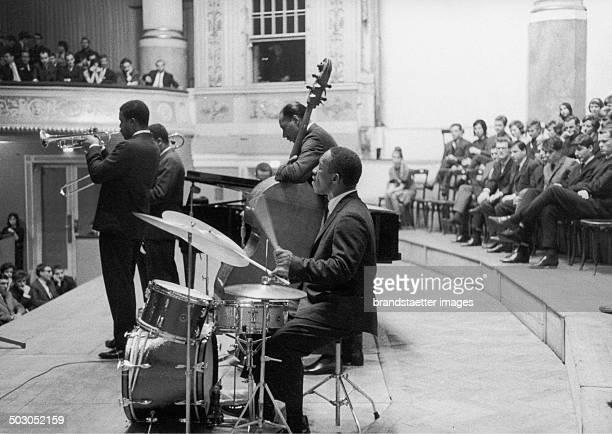 Jazz musician Arthur William Art Blakey in the Vienna Konzerthaus 1968 Photograph by Franz Hubmann