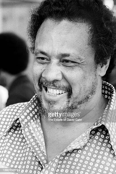 Jazz musician Charlie Mingus at the Newport Jazz Festival in July 1971 in Newport Rhode Island