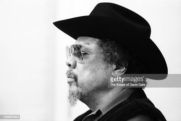 Jazz musician Charlie Mingus records in the studios of Atlantic Records on January 18 1978 in New York City New York