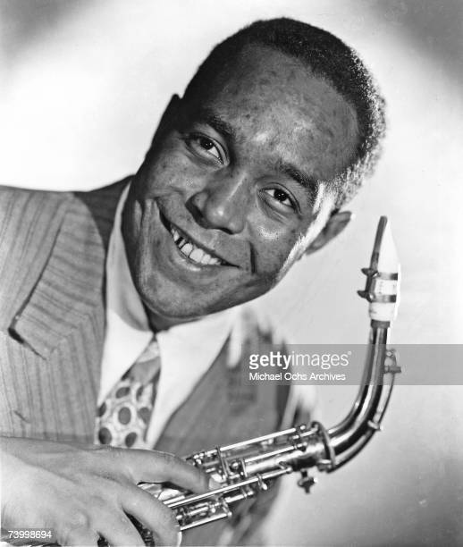 Jazz musician Charlie Parker poses for a portrait in the studio in 1945 in New York New York This is the raw unretouched image The photographer James...
