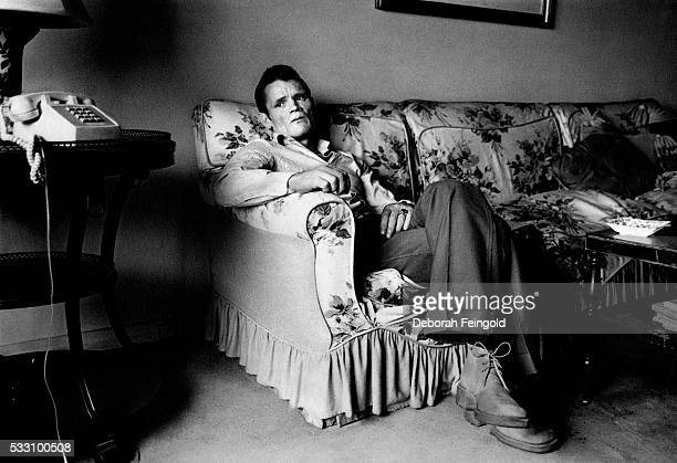 Jazz musician Chet Baker at the home of a friend