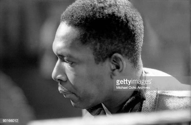 Jazz musician John Coltrane performs live on a show broadcast from a TV station in BadenBaden in 1961 in West Germany