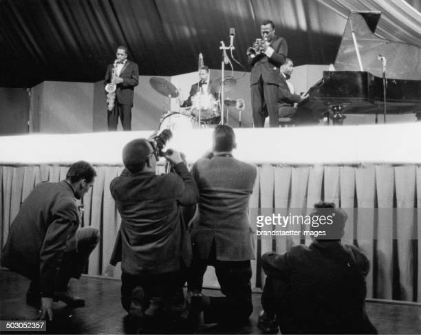 Jazz musician Miles Davis on a JATP concert 1960 Photograph