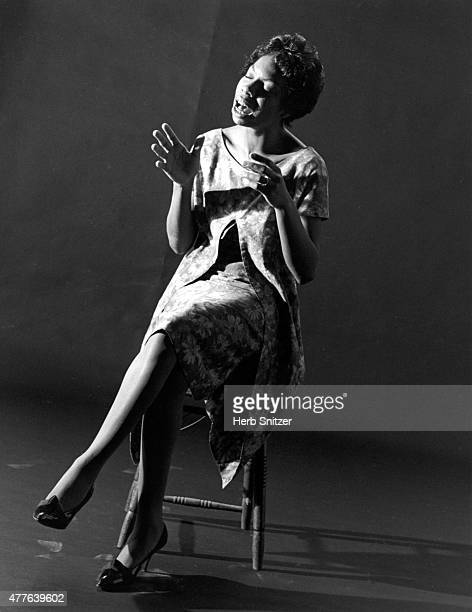 Jazz musician Nina Simone poses for a portrait session during a recording session for Colpix Records in 1959 in Phialdelphia PA