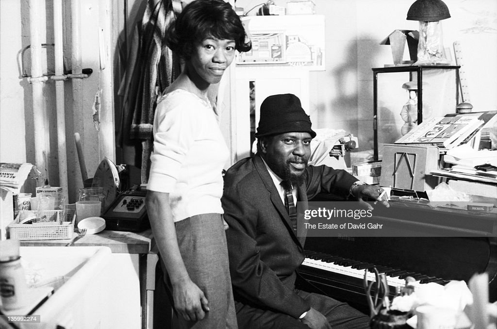 Jazz musician Thelonious Monk and his wife Nellie pose for a portrait in November, 1963 in New York City, New York.