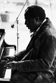 Jazz musician Thelonious Monk performs at the Newport Jazz Festival New York at Yankee Stadium in July 1972 in New York City New York