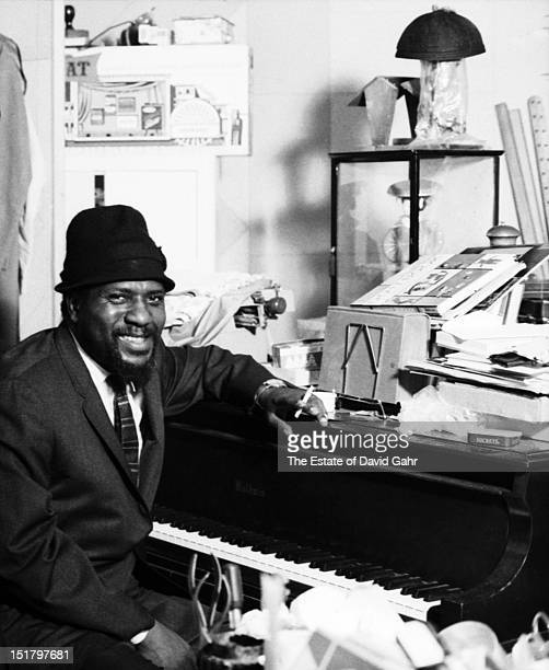 Jazz musician Thelonious Monk poses for a portrait at home in November 1963 in New York City New York