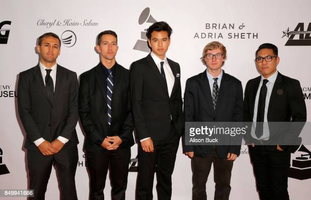 Jazz musicians Aaron Reihs Chris SullivanLUCA MENDOZa Logan Kane and Anthony Fung attend the 2017 GRAMMY Museum Gala Honoring David Foster at The...