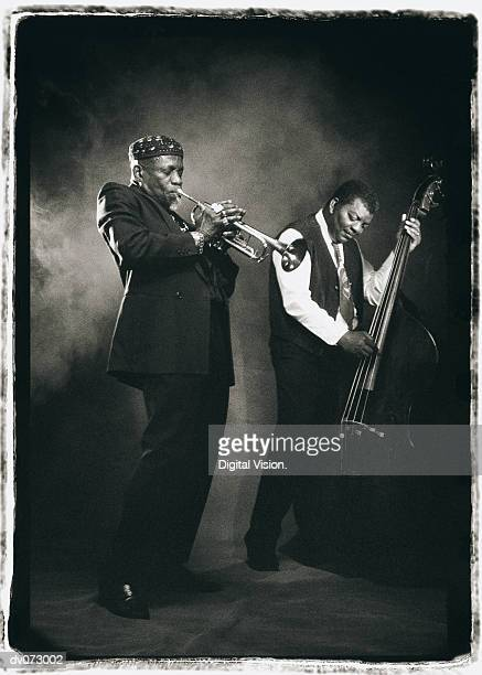 Jazz musicians jamming together