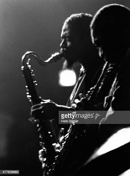 Jazz musicians John Coltrane and Eric Dolphy perform at the Village Gate in August 1961 in New York City NY